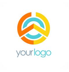 Round geometry technology logo vector