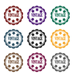 vintage icon in black style isolated on white vector image