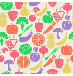 Seamless pattern with fruits and vegetabl vector