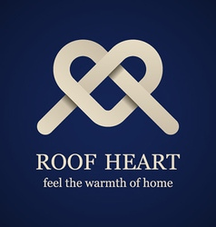 Abstract roof heart symbol vector