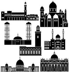 Architecture of the world 1 vector