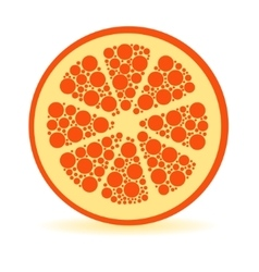 dots orange vector image