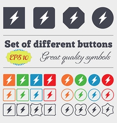 Photo flash icon sign big set of colorful diverse vector