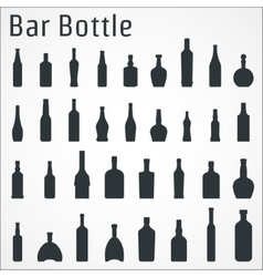 Bar bottle icon vector