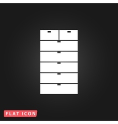 Drawer flat icon vector