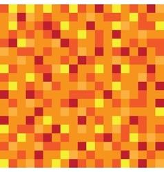 Abstract block texture orange Pixel yellow vector image