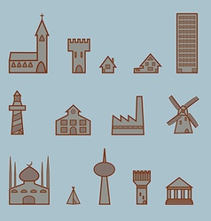 A set of buildings vector