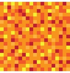Abstract block texture orange pixel yellow vector