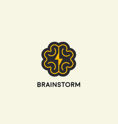 abstract brain logo design template brainstorm vector image vector image