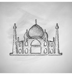 Arabic palace icon vector