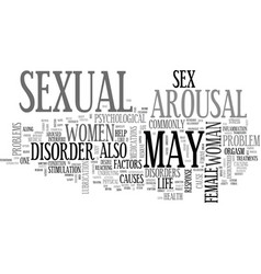 Arousal disorders a curse to one s sex life text vector
