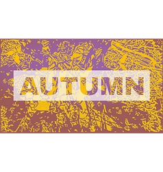 Autumn party invitation flyer template vector