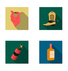 bandage boots dynamite and a bottle of whiskey vector image vector image