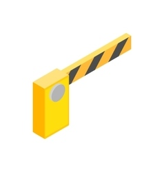Barrier parking cars icon isometric 3d style vector