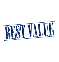 Best value blue grunge vintage stamp isolated on vector