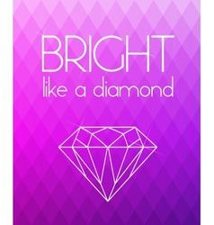 Bright purple rhombus background vector image