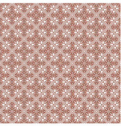 Brown abstract damask pattern backdrop vector