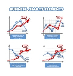 Business graph elements for infographics vector image vector image