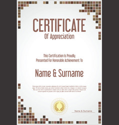 Certificate or diploma modern design template vector