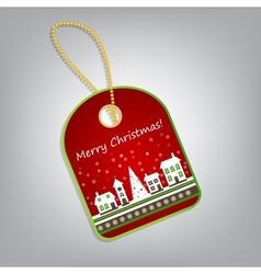 Christmas label vector image vector image