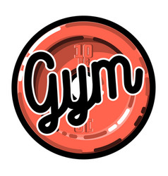 Color vintage gym emblem vector