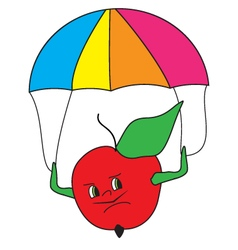 Colored-apple-parashooter vector