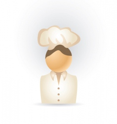 Cook icon vector