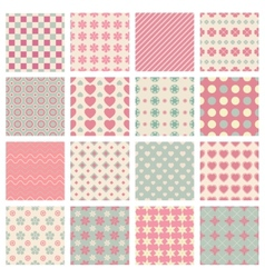 cute and trendy patterns vector image vector image