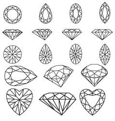 diamond set vector image