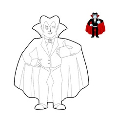 Dracula coloring book vampire count in linear vector
