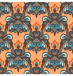 Ethnic damask seamless pattern vector image vector image