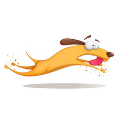 funnu cute crazy yellow dog vector image vector image