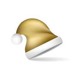 gold christmas santa claus hat vector image