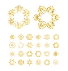 Golden mandala set vector