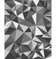 Grey Triangles - Geometric Background Polygonal vector image vector image