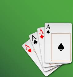 hand of cards vector image