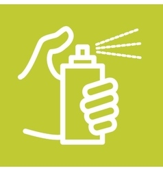 Holding Spray Bottle vector image