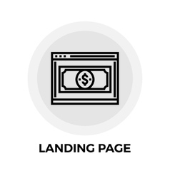 Landing Page Line Icon vector image vector image