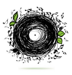 music sketch concept vector image vector image