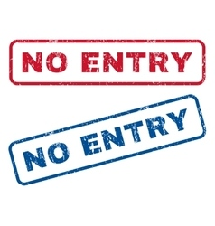 No Entry Rubber Stamps vector image vector image