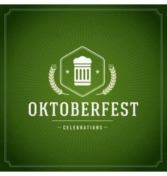 Oktoberfest vintage poster or greeting card vector image
