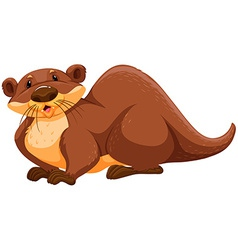 Otter vector image vector image
