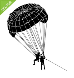 Parachute silhouette vector image vector image
