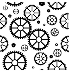 Seamless texture with mechanical wheels vector image vector image
