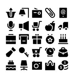 Shopping icons 6 vector