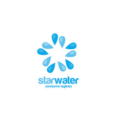 star water logo concept vector image vector image