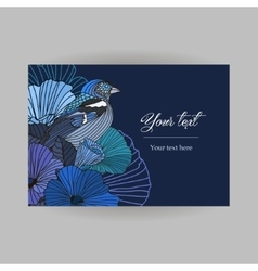 Card with floral postcard vector