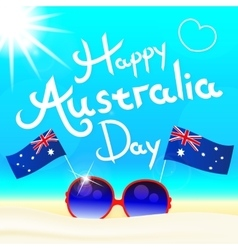 Happy Australia day letters vector image