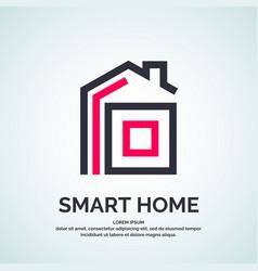 house logo smart vector image