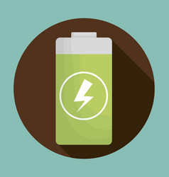 battery icon image vector image